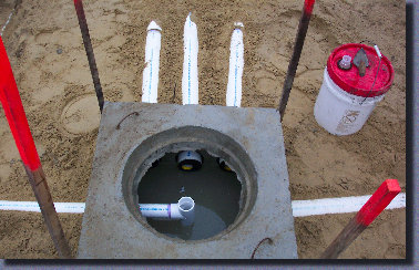 D- box, distribution box, vent pipes, septic system vent