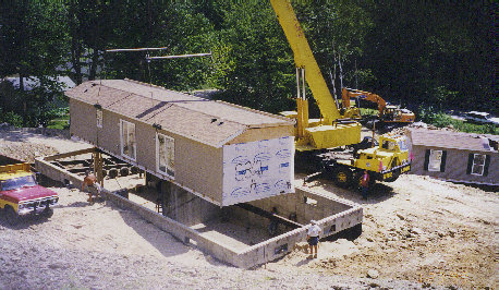 Modular Home Site Preparation Crane Power Raking Loam